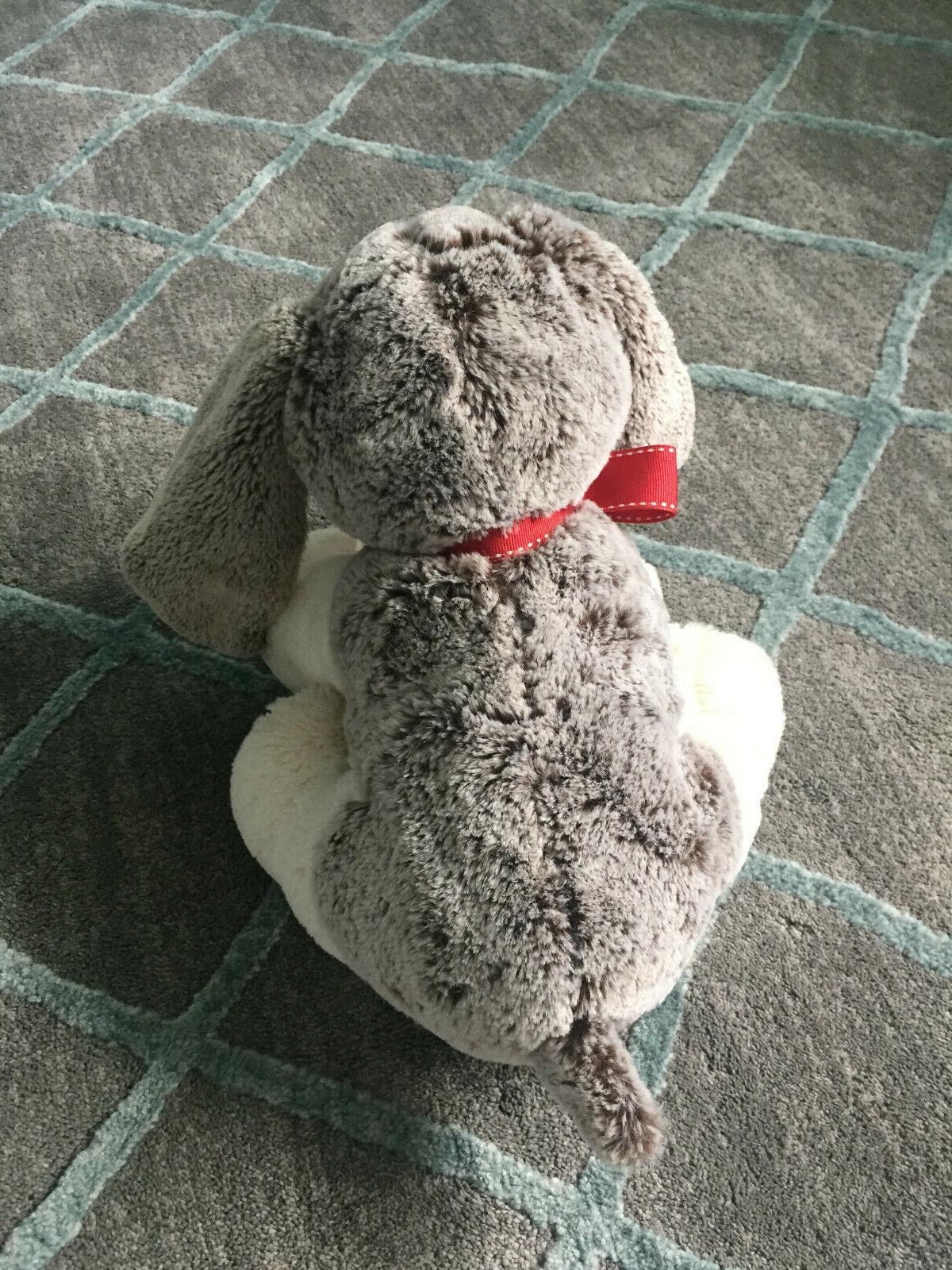 AURORA SOFT BROWN WHITE DROOPY-EARED DOG NEW