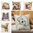 1PC Fashion Cartoon Dog Cotton Line Pillow Case Cushion Cove