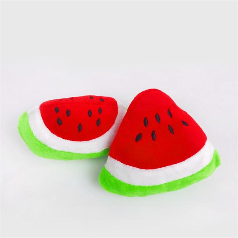 1pc Sounding Puppy Chew <font><b>Toy</b></font> Vegetable <font><b>Chicken</b></font> Drum <font><b>Toy</b></font> Cat Pets Plush Red Pepper Eggplant Radish