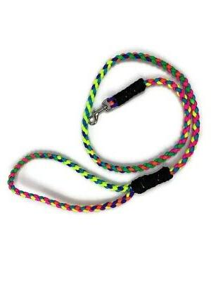 3.5 Paracord Rainbow Dog Great For Smaller Dogs Clasp
