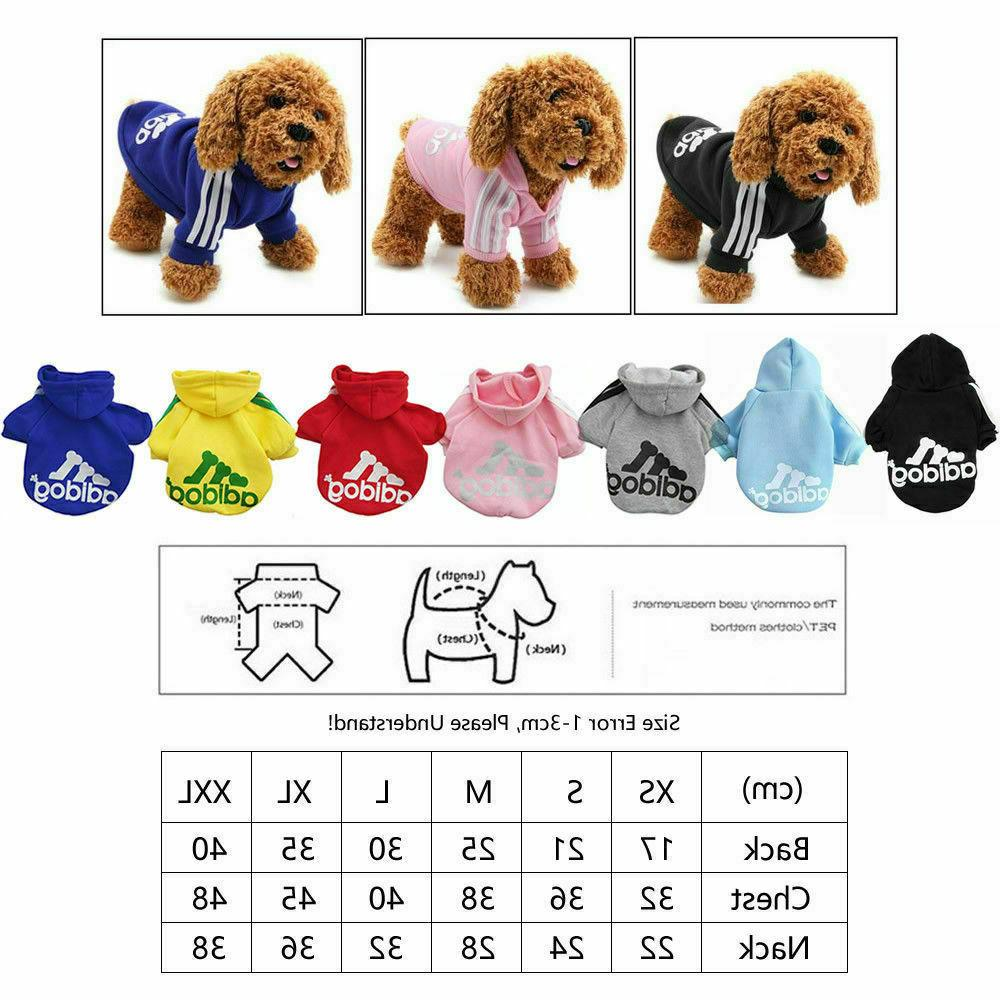 Legs Cat Puppy Winter Hoodies Warm Jacket Clothing