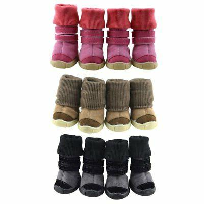 4pcs Small Large Boots Booties for Rain Anti-slip
