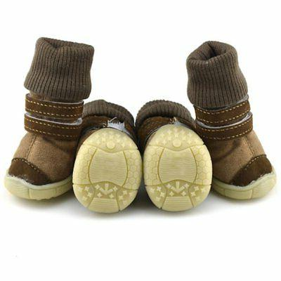 4pcs Dog Shoes Large Boots for Snow Anti-slip