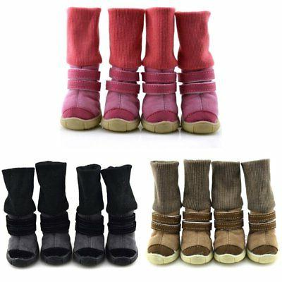 4pcs dog shoes small large mesh boots