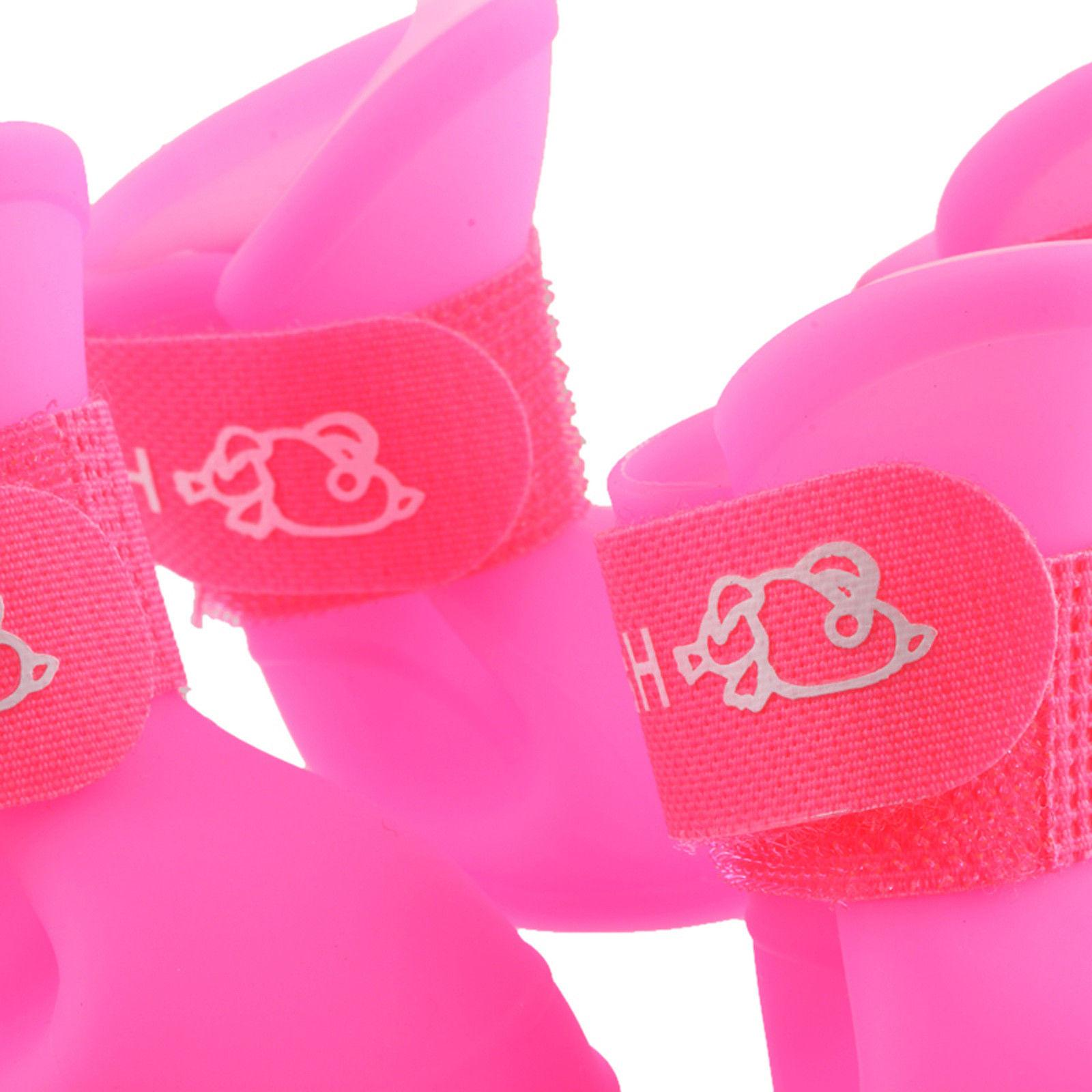 4Pcs Lovely Rain Boots Shoes for Cat Dog Handy US