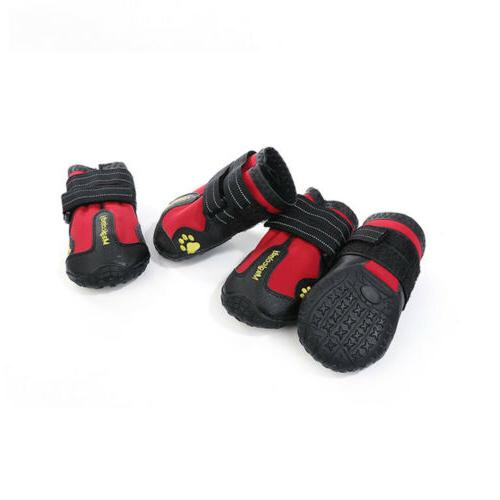 4pcs Skid Boots for Large Paw Protection