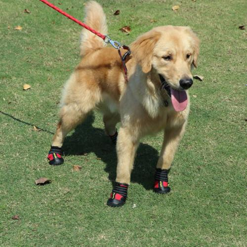 4pcs Shoes Skid Dog for Large Dogs Paw Protection