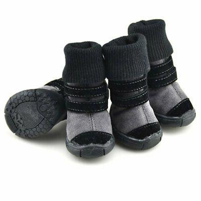 4Pcs/Set Dogs Shoes Small Large US