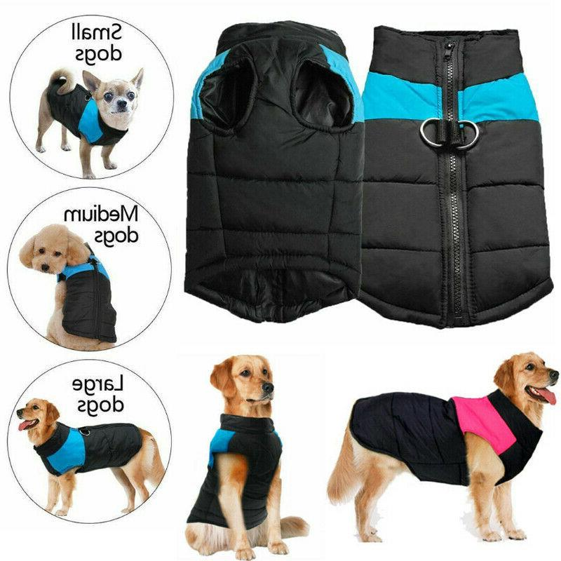 5xl size winter warm padded dog clothes