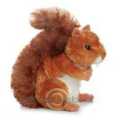 "Aurora Plush Nutsie Brown Squirrel 6.5"" by Aurora"