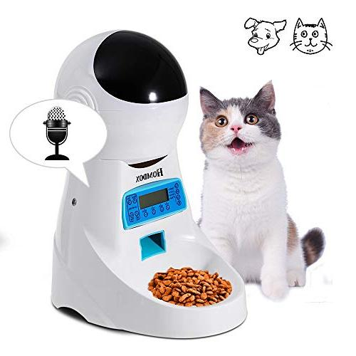 Automatic Pet Feeder Food Dispenser Programmable Timed 4 Mea
