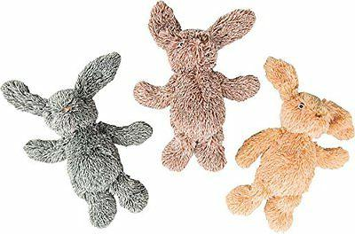 "Ethical Pets 13"" Assorted Cuddle Bunnies Plush Dog Toy"