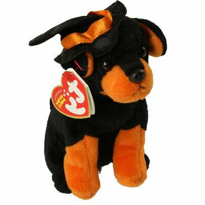 Halloween Ty Black Alacazam Dog Orange Hat Plush Stuffed Ani