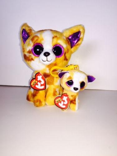 TY PABLO DOG SET OF 2  BEANIE BOOS-NEW, MINT TAG *IN HAND*
