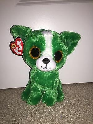 Ty Dill the Green Dog Beanie Boos Special Edition