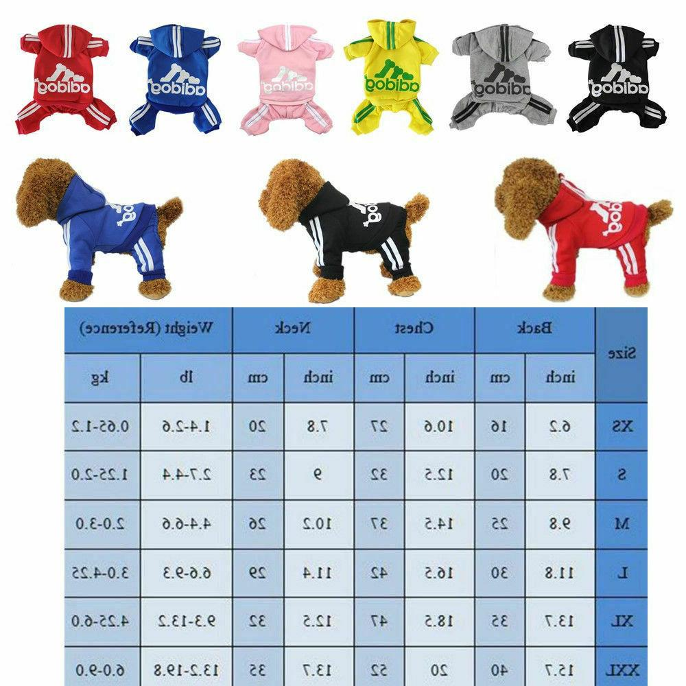 Adidog for Dog Puppy Hoodies Coat Winter Sweatshirt Sweater