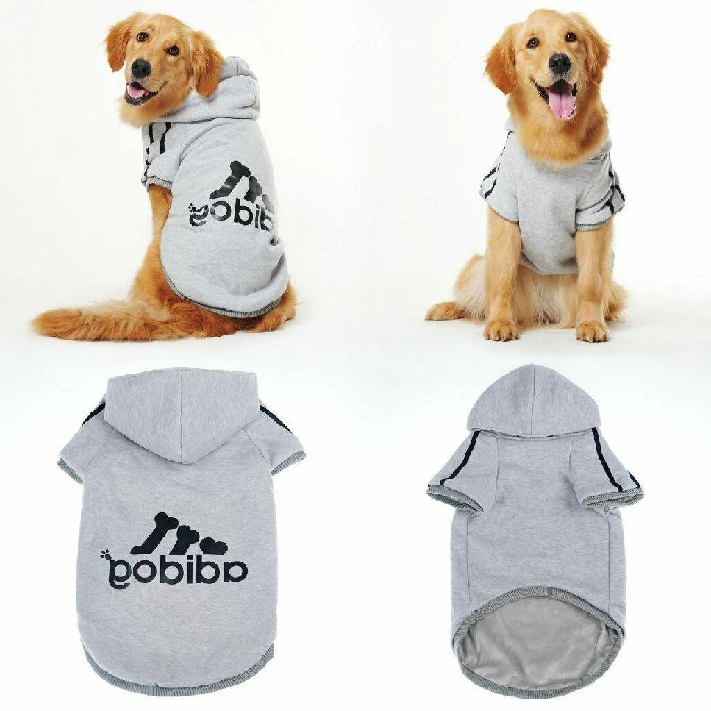 Adidog Dog Coat Sweatshirt Sweater