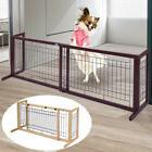 adjustable indoor solid wood construction pet fence