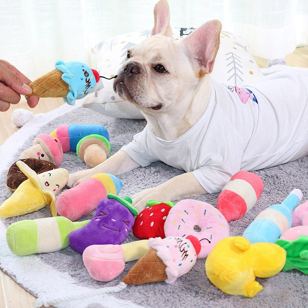 Animals Cartoon Stuffed Cute <font><b>Dogs</b></font> Squeaky for