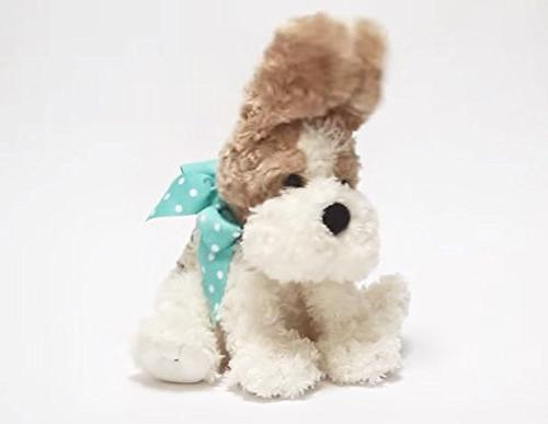 """Cuddle Barn® Buttons the Dog Animated Plush 10"""" Soft Animal Flaps Ears and to Catchy How Much Doggie"""