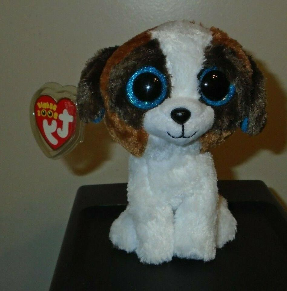 "TY Beanie Babies Boo's Duke Dog 6"" Stuffed Collectible BRAND"