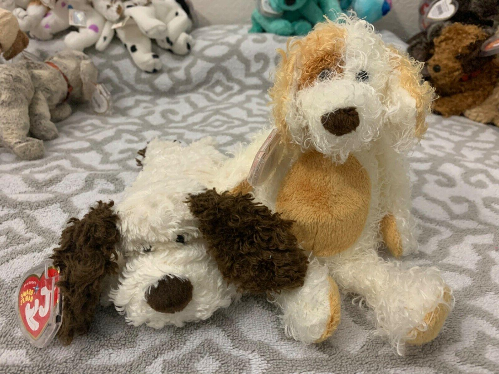 beanie baby dogs diggs and spuds mwmt