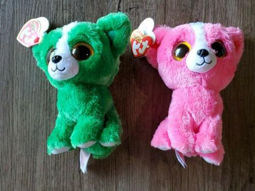 beanie boo pashun pink and dill green
