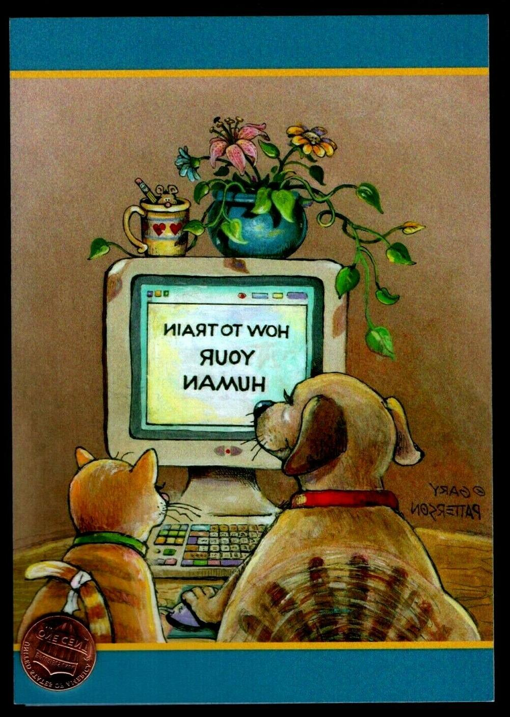 birthday cat and dog computer mouse humorous