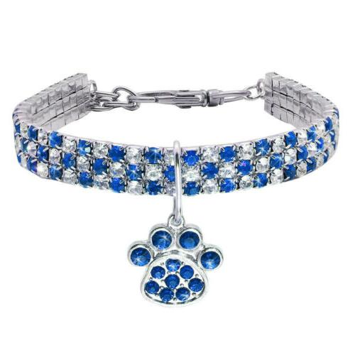 Bling Necklace With Paw S/M/L