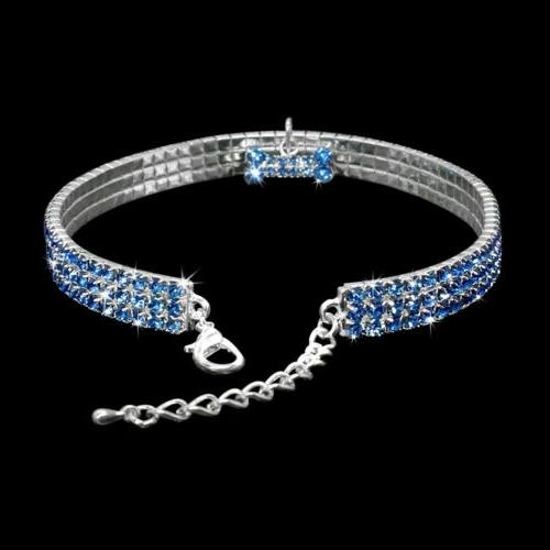 Bling Rhinestone Necklace Collar Diamante for Puppy