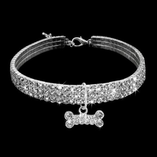 Bling Necklace Collar Diamante Pendant for Pet Puppy Chihuahua