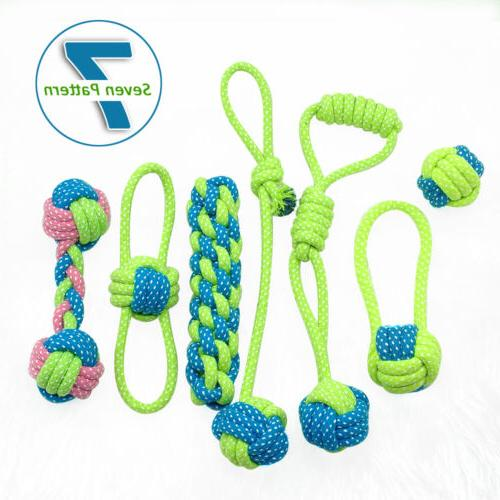 braided cotton rope pet dog interactive toys