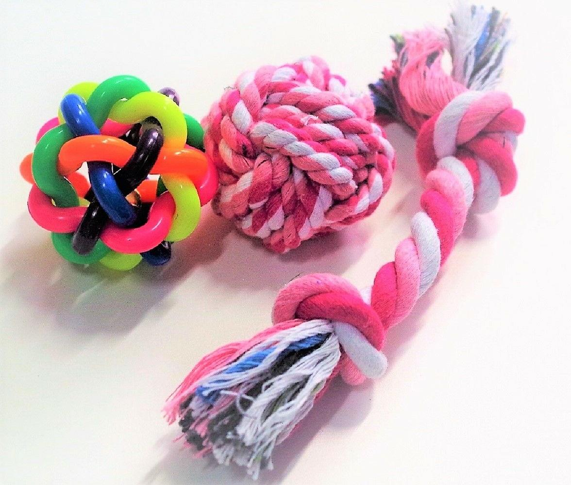 Chew and Squeaky Dog Toys Puppy and 6 pcs inside