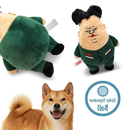 Funny Silly Soft Fetch Cuddle Dog Toy Hilarious Parody Gifts, Jong Un, Large