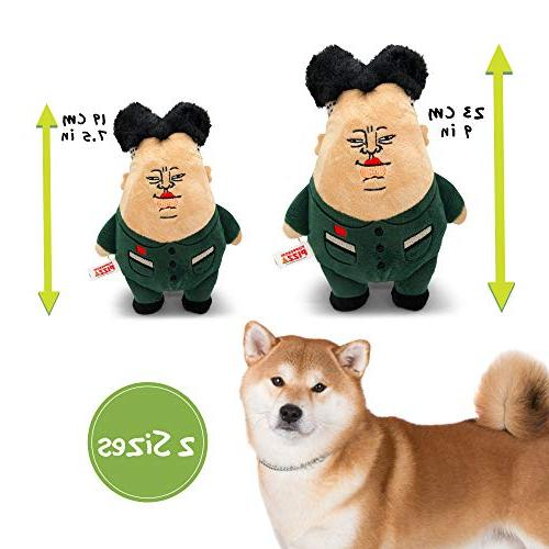 Pupperoni Funny Fuzzy Chubby Soft Plush Cuddle Dog Toy Parody Political Large