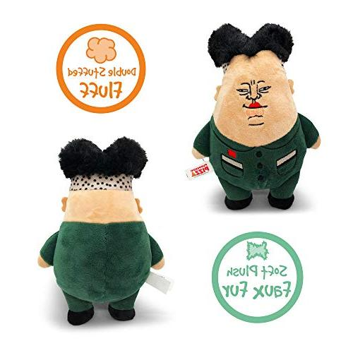 Pupperoni Chewy Soft Plush Cuddle Dog Toy Parody Gag Gifts, Kim Jong Un, Large