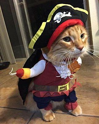 TOPSUNG Cool Caribbean Pirate Pet Costume for Dogs / Cats, S
