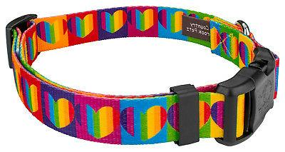 Country Brook Deluxe Rainbow Dog Collar
