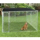 Cover Shade Cage Shelter Outdoor Pen Black Dog House Kennel