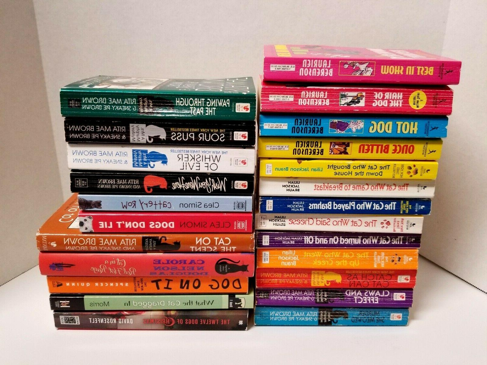 Cozy and Mysteries Lot of Braun, Brown, Rosenfelt