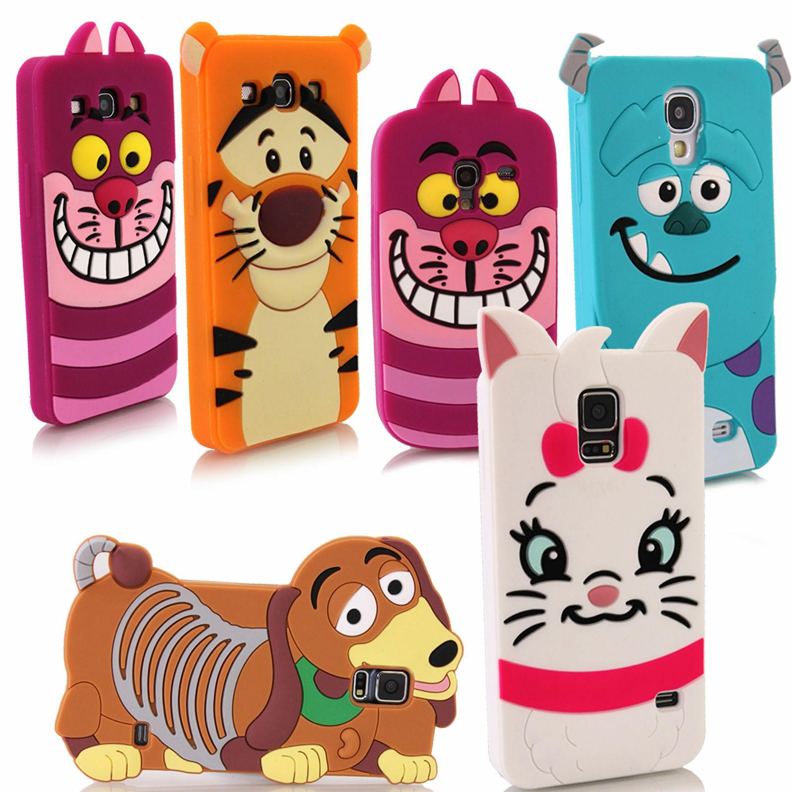 Cute 3D Cartoon Animal Silicone Rubber Case Cover For Apple