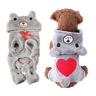 Cute Jumpsuit Warm Pet Apparel for