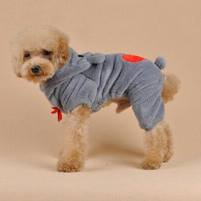 Cute Warm Hoodie Pet Clothes Apparel Pet