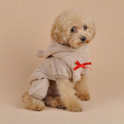 Cute Bear Costume Jumpsuit Warm Apparel Pet Dog