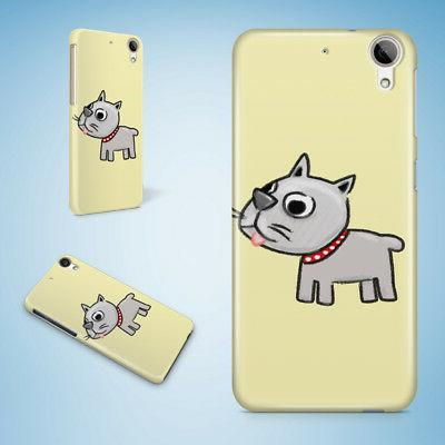 CUTE DOG PUPPY CANINE SKETCH ART HARD CASE FOR HTC DESIRE 81