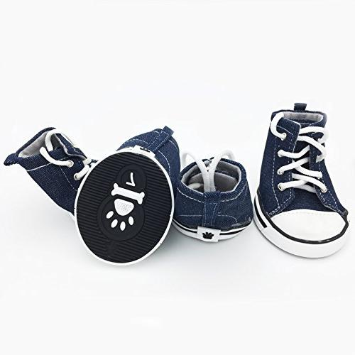 Dog Sporty up Boots Booties Sneaker for 4 Pack.