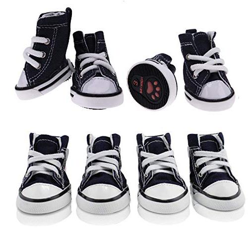 abcGoodefg Cute Dog up Boots Dog Sneaker for Yorkie Small Doggies - Pcs