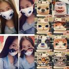 Cute Unisex 3D Cat Dog Face Cycling Anti-Dust Cotton Mouth F