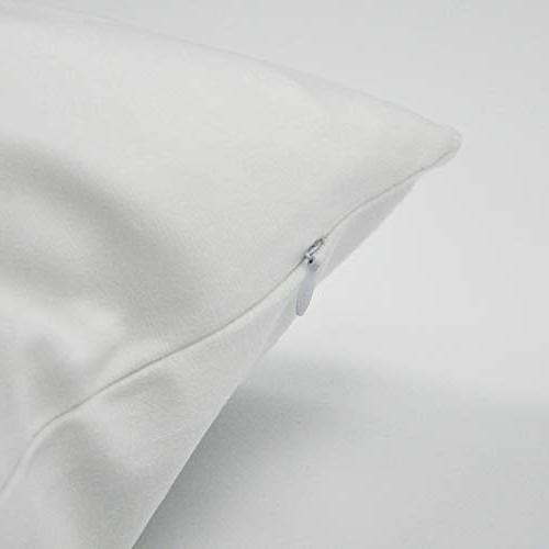 """Darkchocl Decoration Throw Pillow Covers Yoga Pillow Square Pillowcase for Bed Cotton 18"""" x"""