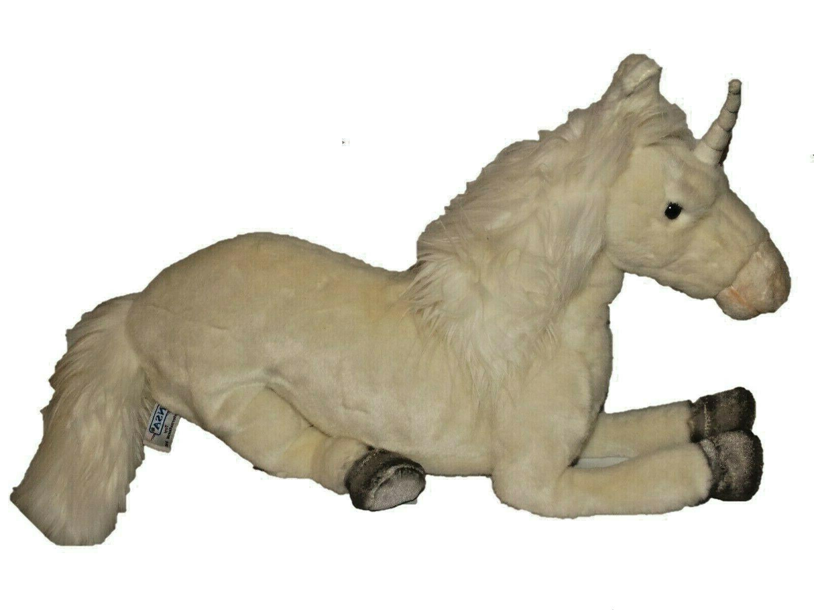deluxe white unicorn 17 plush toy stuffed